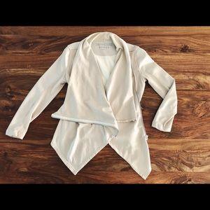 Blank NYC drape front zippered jacket
